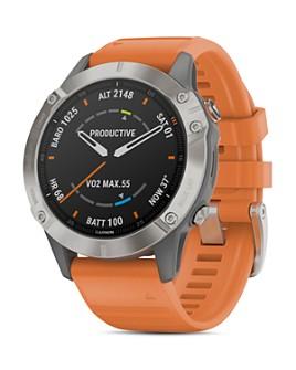 Garmin - Fenix 6 Ember Orange or Heathered Red Band Smartwatch, 47mm