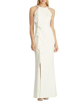 Ralph Lauren - Beaded-Strap Crepe Gown