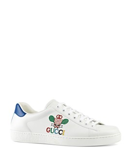 Gucci - Men's New Ace Embellished Low-Top Sneakers