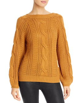 Vero Moda - Mallie V-Back Mixed-Knit Sweater