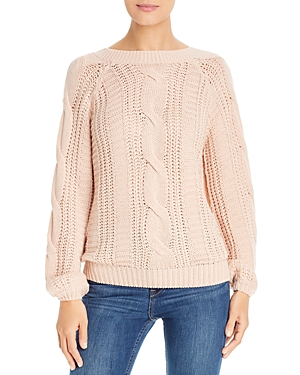 Vero Moda Mallie V-Back Mixed-Knit Sweater