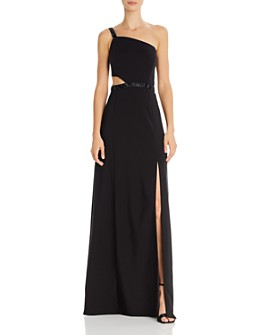 Aidan by Aidan Mattox - Beaded One-Shoulder Gown