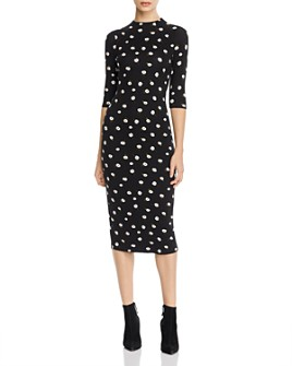 Alice and Olivia - Delora Daisy Print Midi Dress