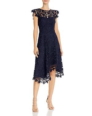 Eliza J Asymmetric Lace Dress-Women