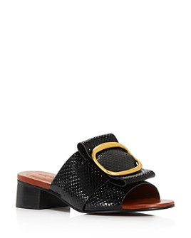 See by Chloé - Women's Hopper Snake-Embossed Block-Heel Sandals