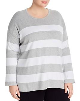Eileen Fisher Plus - Striped Organic Cotton Sweater