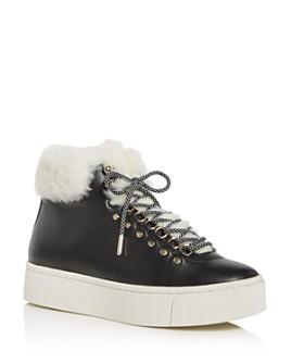 Joie - Women's Handan Shearling High-Top Platform Sneakers