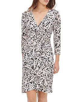 Calvin Klein - Printed Faux-Wrap Dress