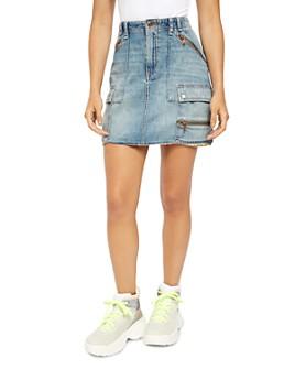 Free People - Avenue Denim Mini Skirt
