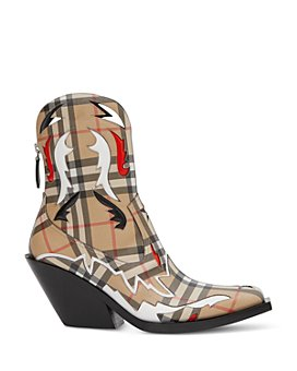 Burberry - Women's Vintage Check Cowboy Booties