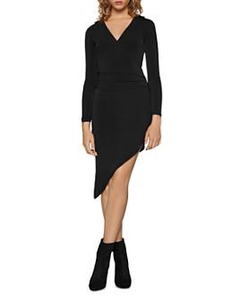 BCBGENERATION - Asymmetric Ruched Dress