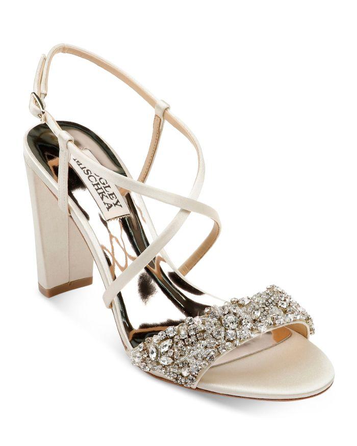 Badgley Mischka Women's Carolyn Crystal Embellished High-Heel Sandals    Bloomingdale's