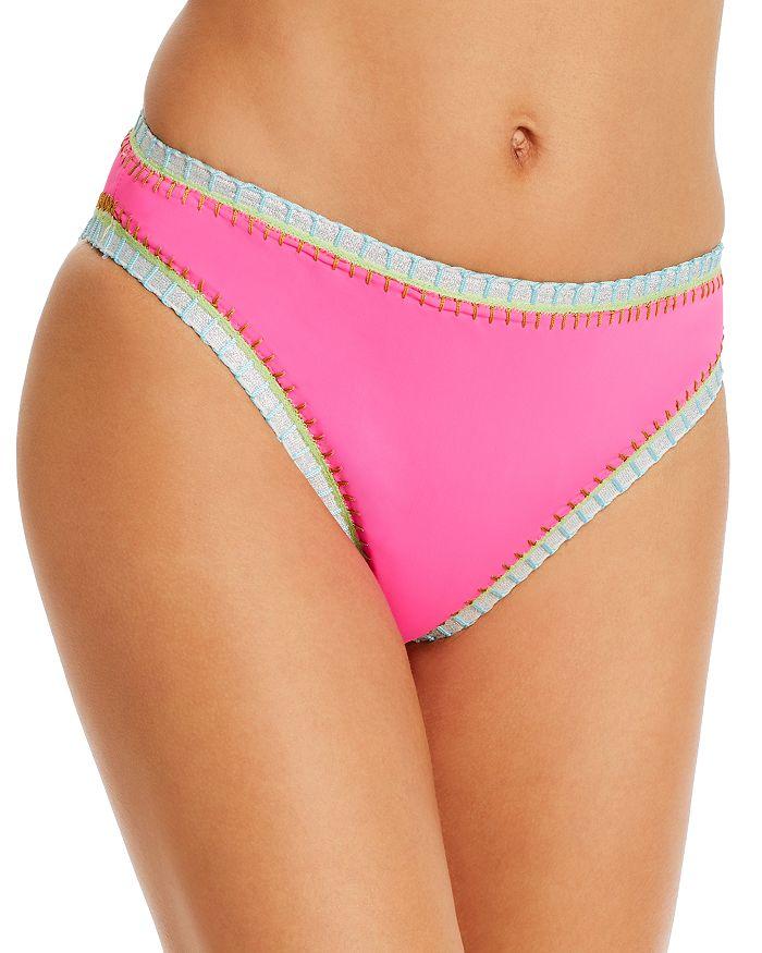Platinum Inspired By Solange Ferrarini High-waist Bikini Bottom - 100% Exclusive In Hot Pink