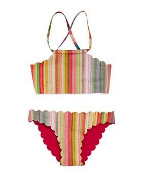 PQ Swim - Girls' Reversible Scalloped Two-Piece Swimsuit, Little Kid, Big Kid - 100% Exclusive