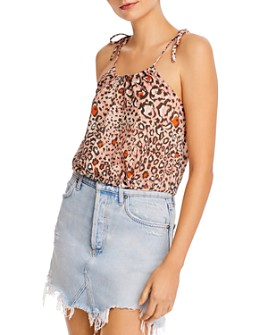 Suboo - Uma Animal-Print Drawstring Top