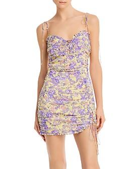 For Love & Lemons - Maui Shirred Bodycon Mini Dress