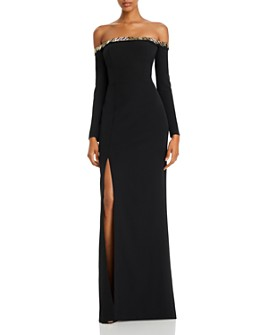 Aidan Mattox - Embellished Off-the-Shoulder Gown - 100% Exclusive