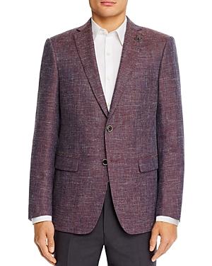 John Varvatos Star Usa Bleecker Textured Melange Weave Slim Fit Sport Coat-Men