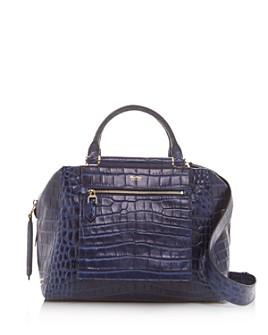 Max Mara - Croc-Embossed Leather Shoulder Bag