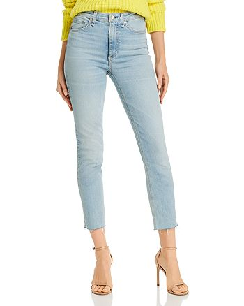 rag & bone - Nina High-Rise Ankle Cigarette Jeans in Cardiff