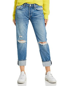 rag & bone - Distressed Boyfriend Jeans in Bristol