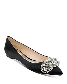 Badgley Mischka - Women's Octavia Pointed-Toe Embellished Flats