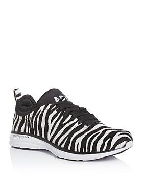 APL Athletic Propulsion Labs - Women's Phantom Zebra-Print Calf Hair Low-Top Sneakers
