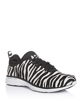 APL Athletic Propulsion Labs - Women's Phantom Zebra-Print Calf Hair Low-Top Sneakers