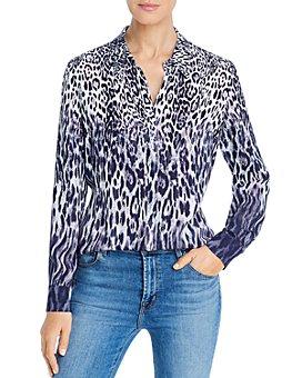 Elie Tahari - Leopard Print Ombré Shirt