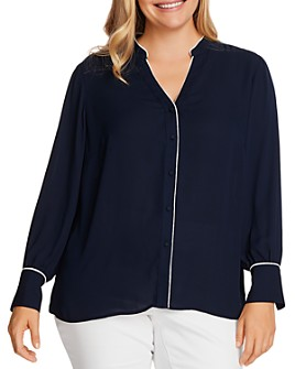 VINCE CAMUTO Plus - Piped Button-Down Shirt