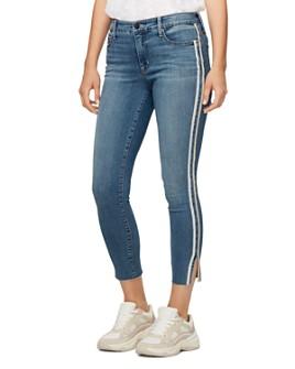 Sanctuary - Cropped Skinny Jeans in Bluebird Racer Stripe