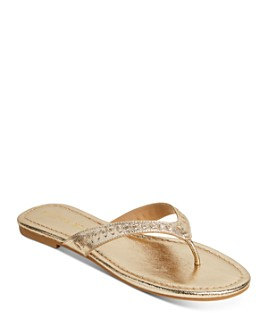 Jack Rogers - Women's Collins Metallic Leather Flip-Flops