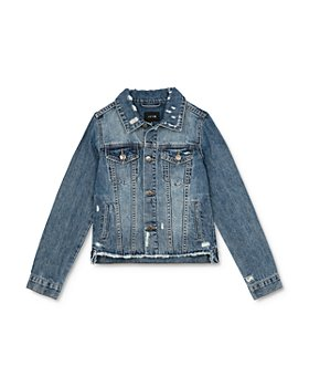Joe's Jeans - Girls' Distressed Denim Jacket - Big Kid
