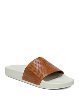 Vince - Men's Leather Slide Sandals