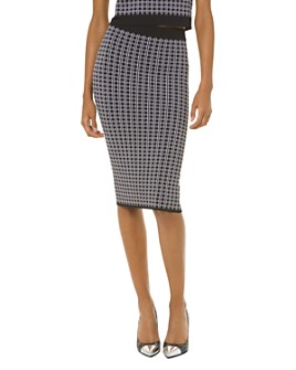 MICHAEL Michael Kors - Check-Print Pencil Skirt