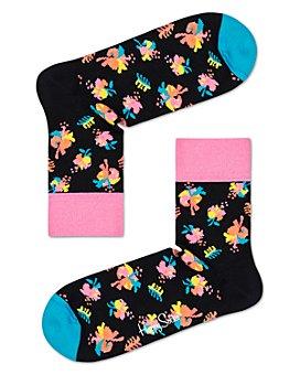 Happy Socks - Hibiscus Crew Socks