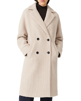 Maje - Gaby Textured Double-Breasted Coat