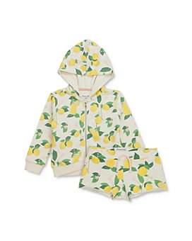 Sovereign Code - Girls' Yasmine Lemon Print Hoodie & Kyla Lemon Print Shorts Set - Baby