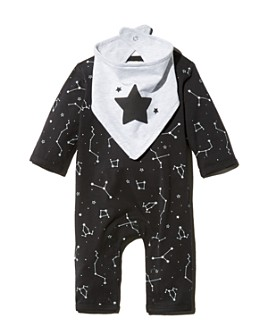 Bloomie's - Unisex Constellation Coverall & Star Bib Set, Baby - 100% Exclusive