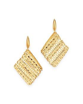 Bloomingdale's - Geometric Mesh Drop Earrings in 14K Yellow Gold - 100% Exclusive
