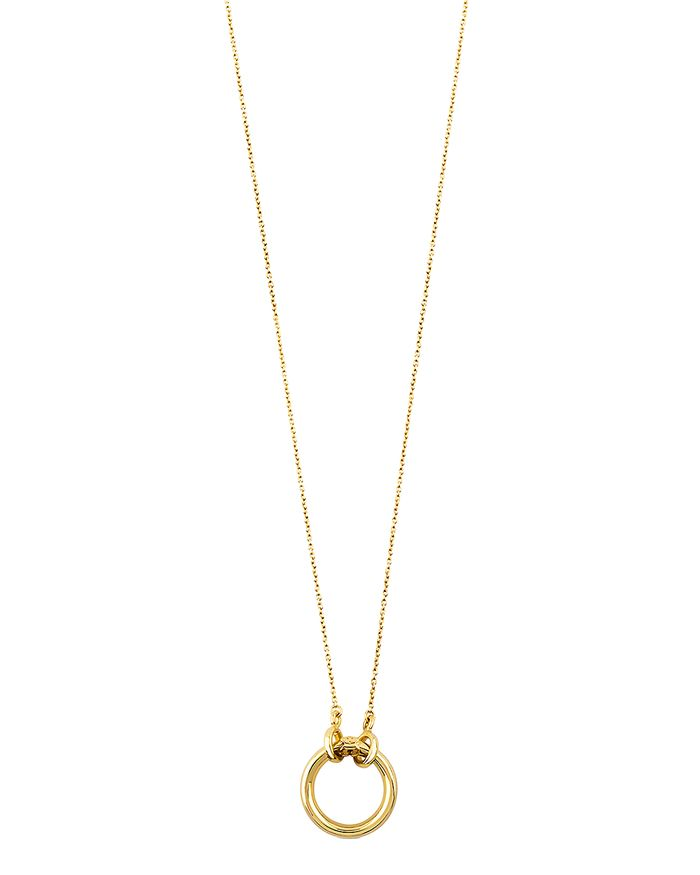 """TOUS - 18K Yellow Gold Hold Pendant Necklace, 15.7"""""""