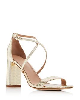 Via Spiga - Women's Sabinne Snake-Embossed Block-Heel Sandals