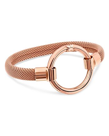 TOUS - 18K Rose Gold-Plated Sterling Silver Hold Mesh Cuff Bracelet