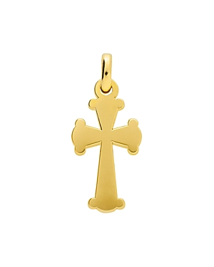 Tous 18K Yellow Gold-Plated Sterling Silver Idol Tradition Cross Pendant