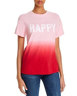 Cinq a Sept Cotton Happy Dip-Dyed T-Shirt