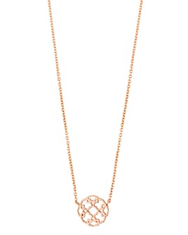 """TOUS - 18K Rose Gold-Plated Sterling Silver Rosa de Abril Choker Necklace, 17.7"""""""