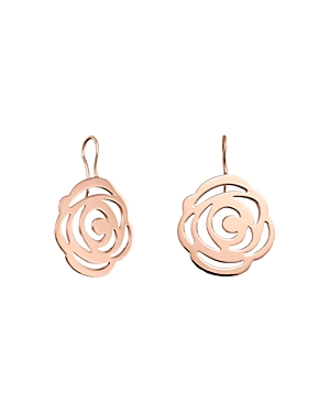 Tous 18K Rose Gold-Plated Sterling Silver Rosa de Abril Drop Earrings