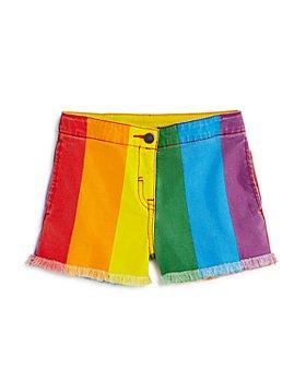 Stella McCartney - Girls' Rainbow-Stripe Denim Shorts - Little Kid, Big Kid
