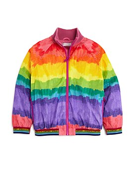 Stella McCartney - Girls' Ombré Rainbow Bomber Jacket - Big Kid