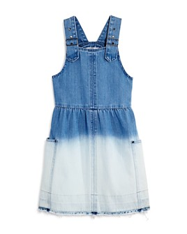 Stella McCartney - Girls' Bleached Denim Overall Dress - Little Kid
